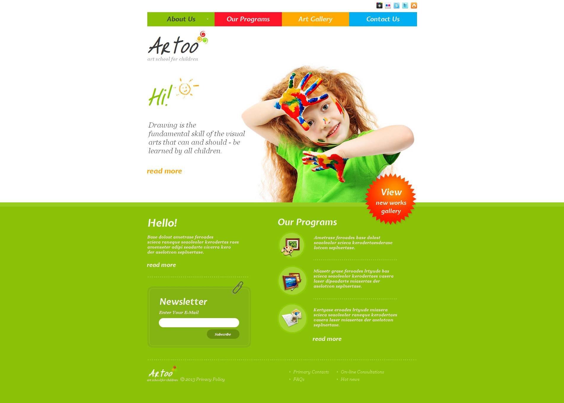 Art School Moto CMS HTML Template