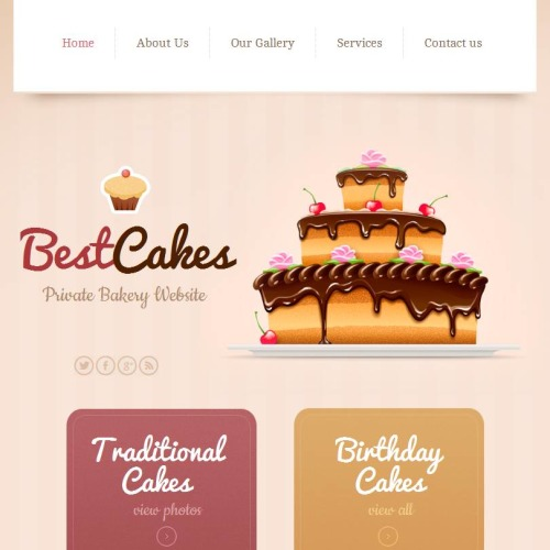 Best Cakes - Facebook HTML CMS Template