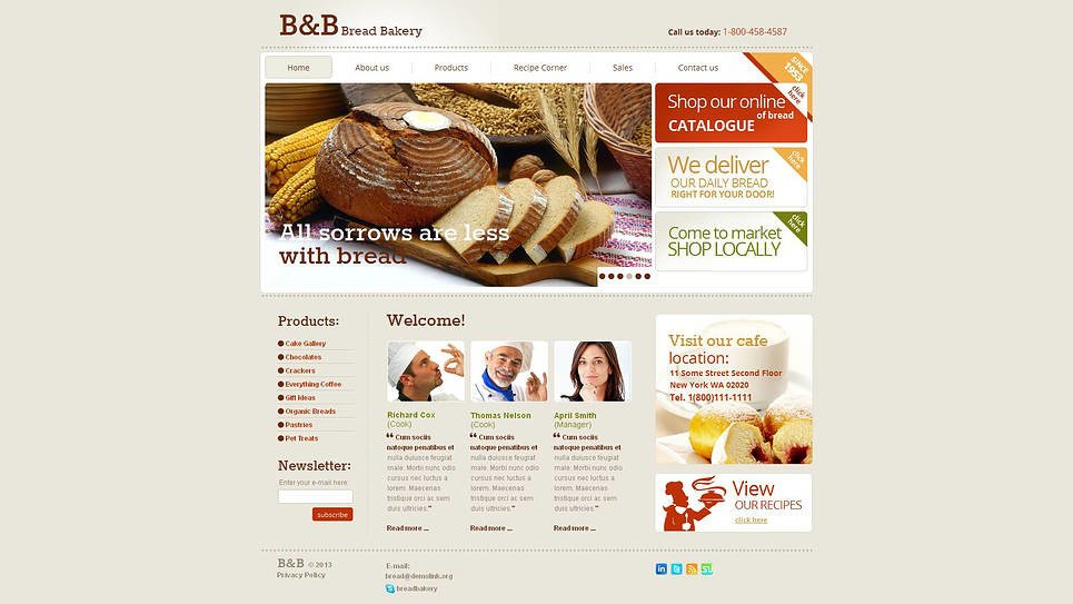 Bakery Moto CMS HTML Template New Screenshots BIG