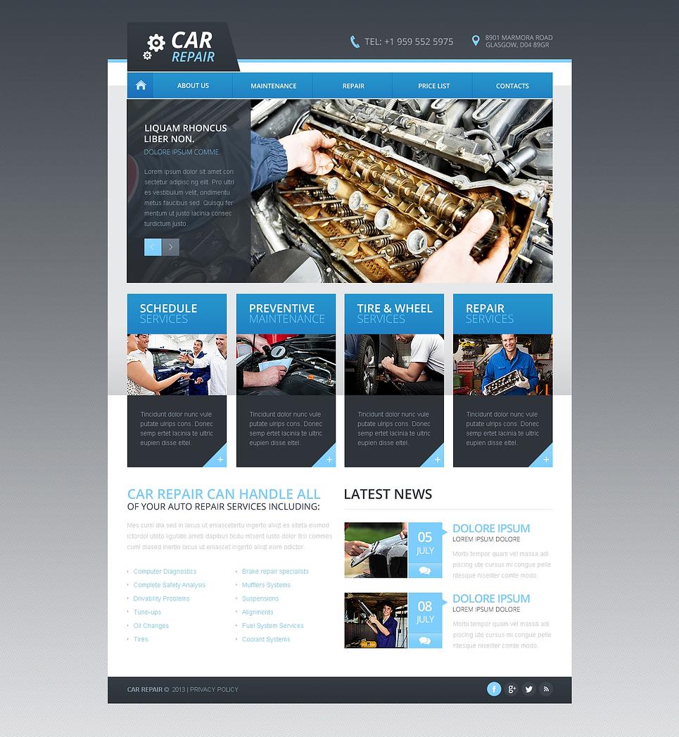 car repair responsive website template 46200
