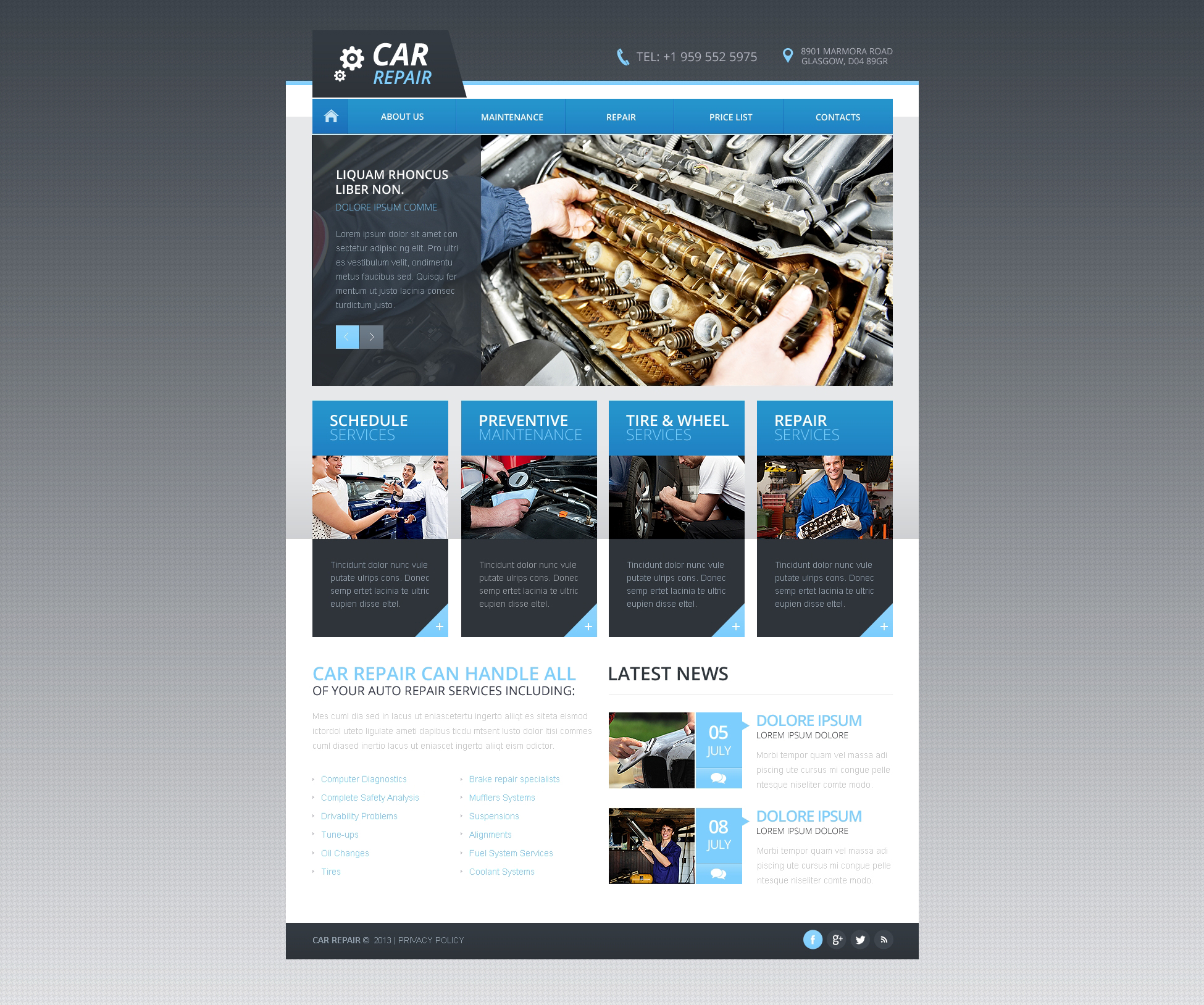 Car Repair Responsive Website Template - screenshot