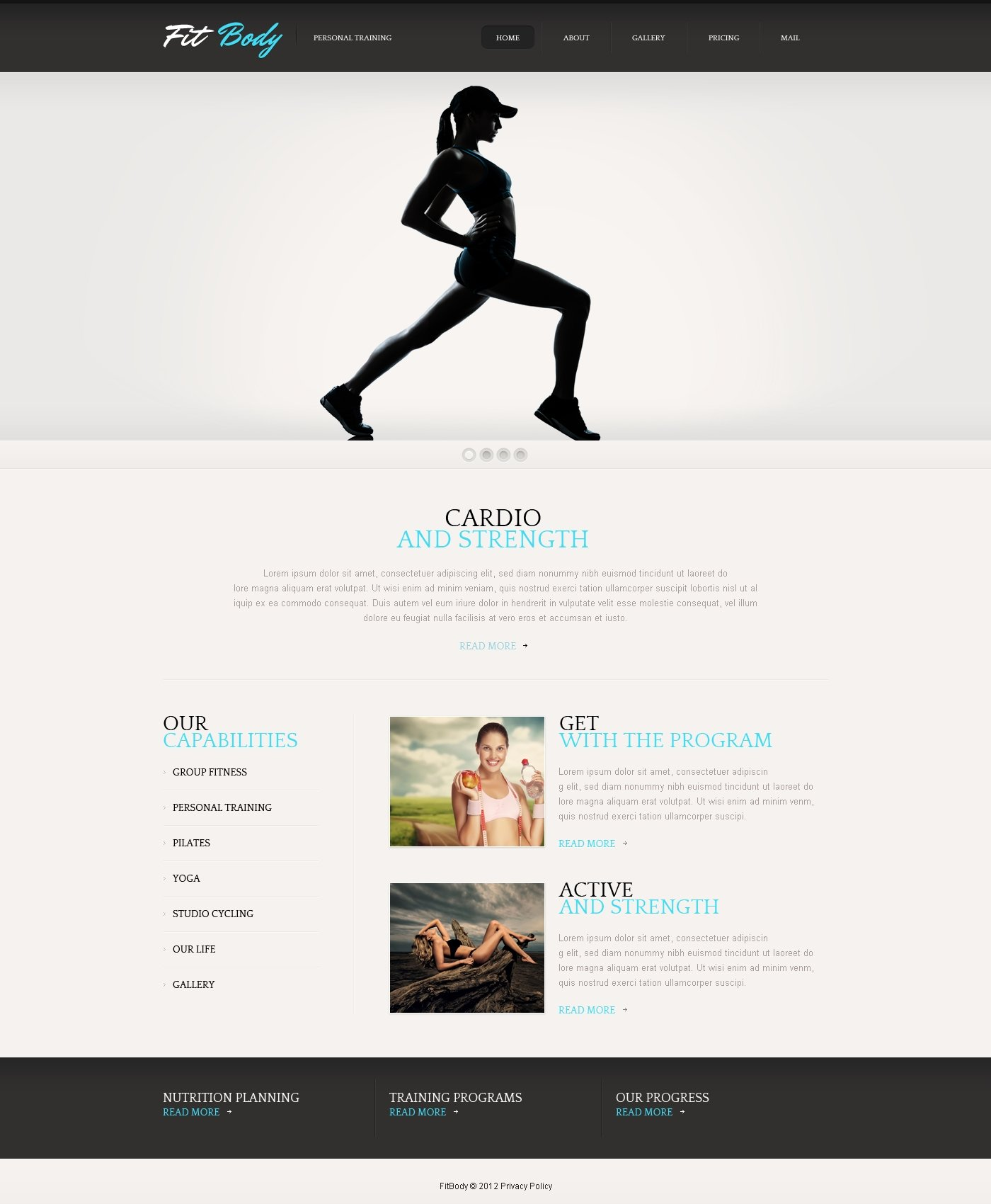 Clean Fitness Wix Website Template - Wix privacy policy template