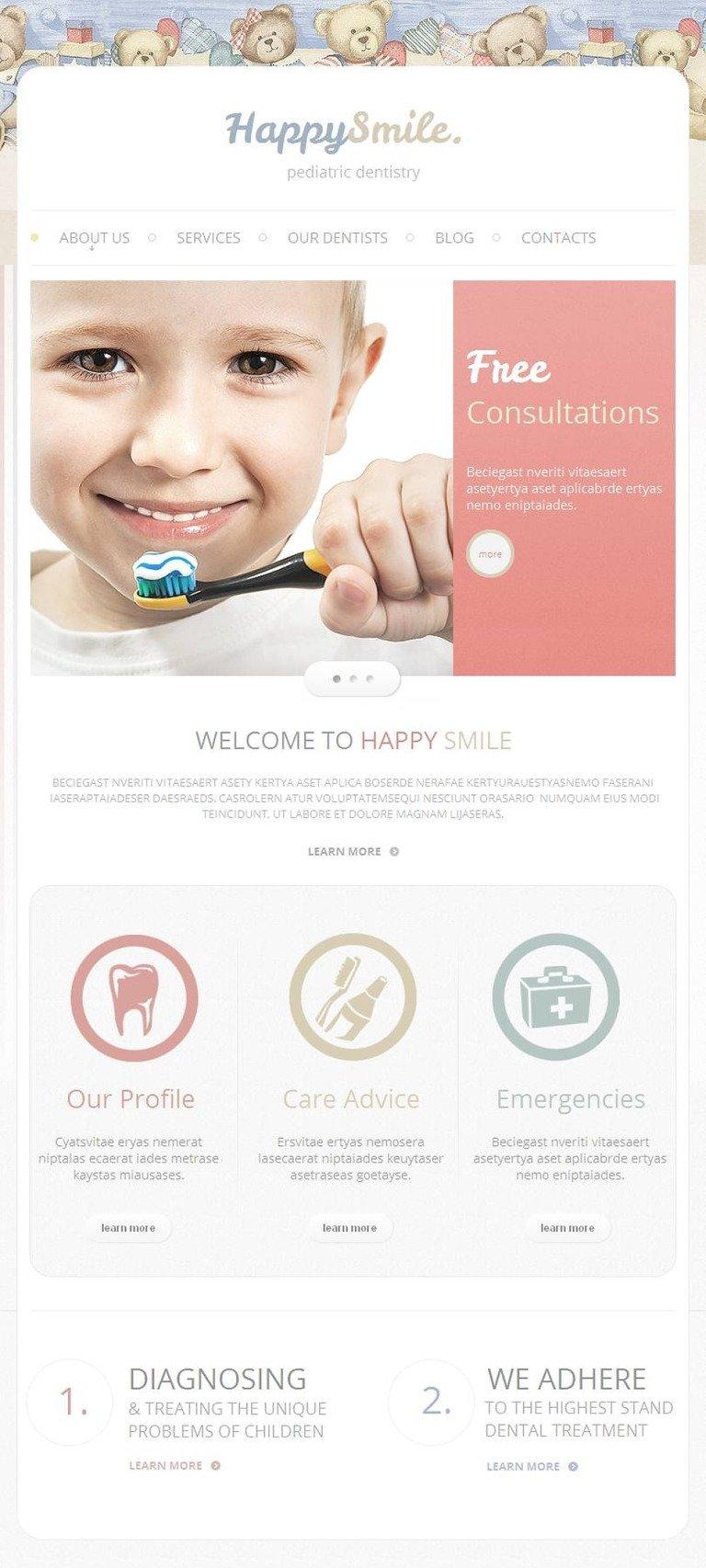 Dentistry Facebook HTML CMS Template New Screenshots BIG