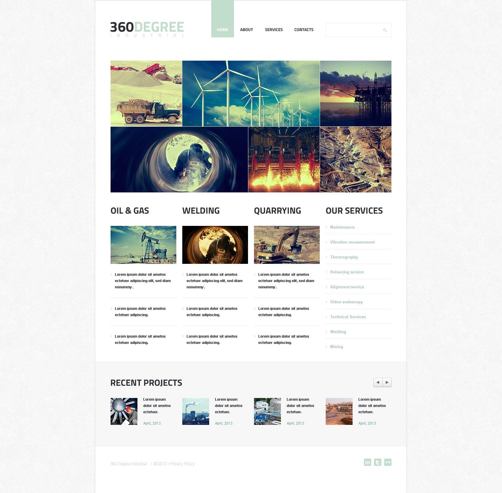 Industrial Agency Wix Website Template #46262