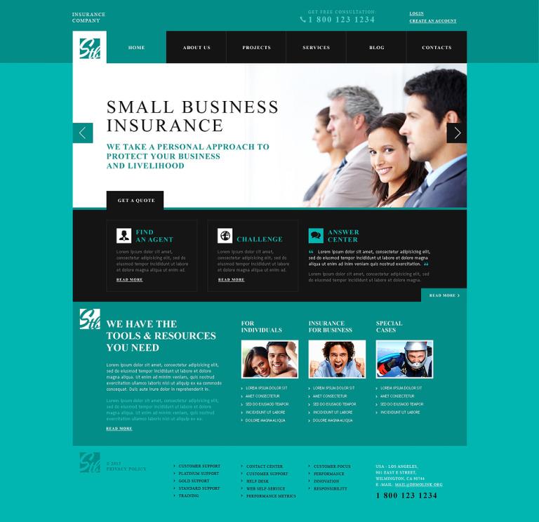 Insurance Advisor WordPress Theme New Screenshots BIG