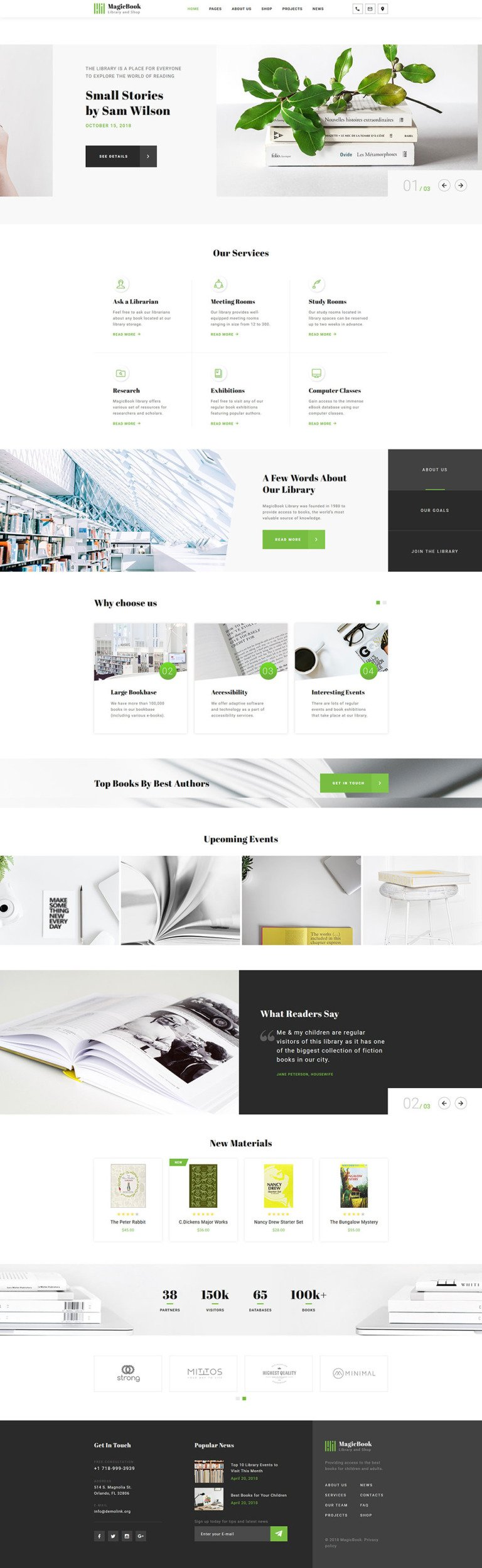 Library Responsive Website Template New Screenshots BIG
