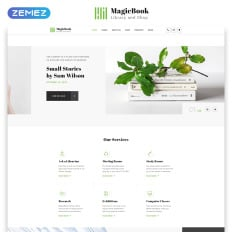 magicbook library shop html5 best creative website template
