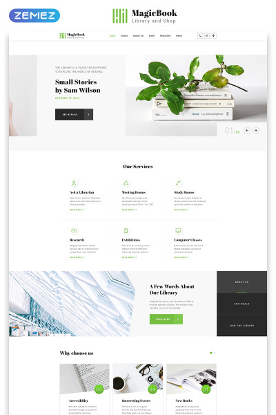 MagicBook - Library & Shop HTML5 Website Template #46251