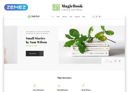 Book Library & Shop HTML5