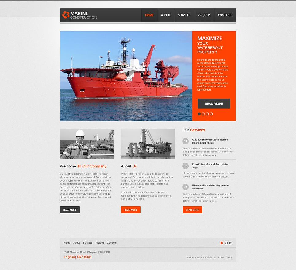 Marine Company Wix Website Template #46258
