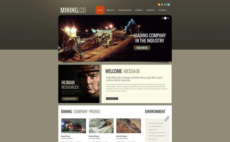 Mining Company Moto CMS HTML Template #46298
