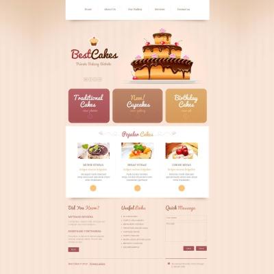 Moto CMS HTML Vorlage #46216 für Bäckerei