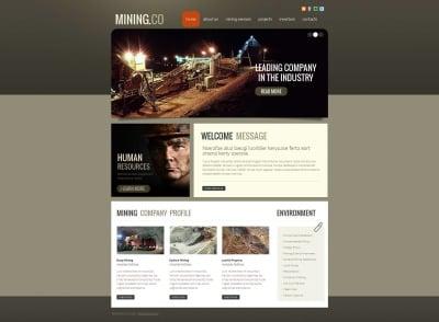 Mining Company Moto CMS HTML Şablon