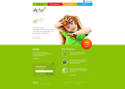 Art School Moto CMS HTML Template