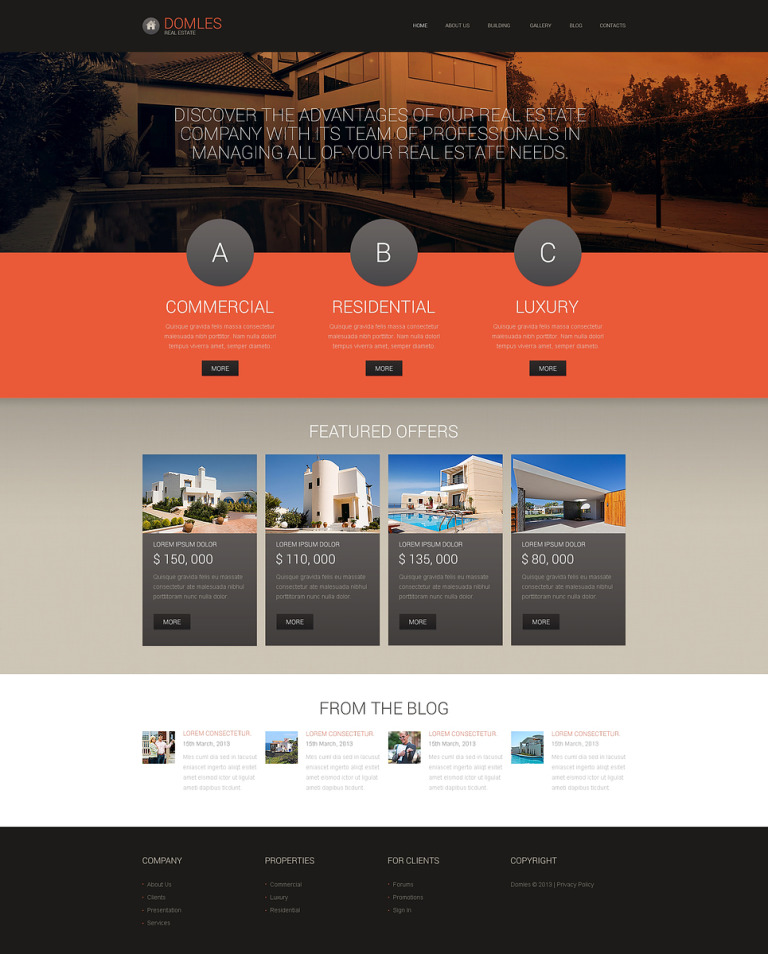 Real Estate Drupal Template New Screenshots BIG