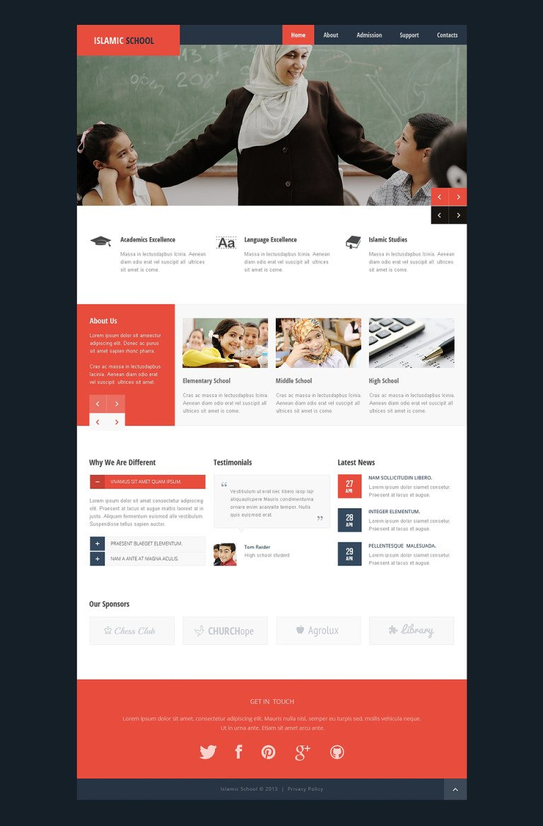 Religious School Responsive Website Template New Screenshots BIG