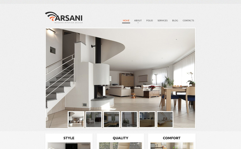 Respectable Interior Design Wix Website Template