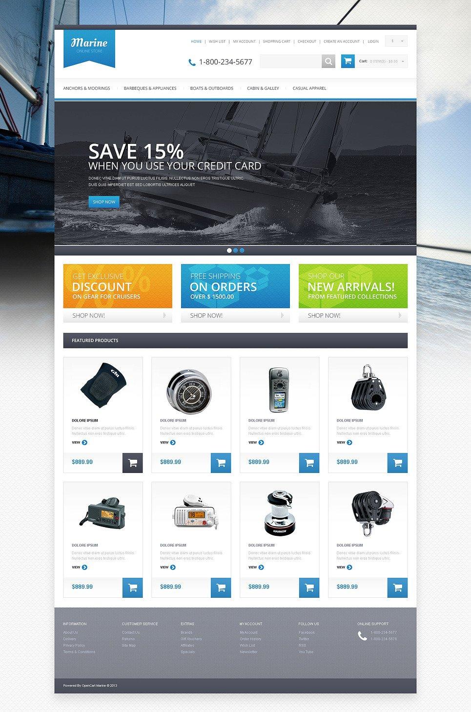Responsive Marine Store OpenCart Template New Screenshots BIG
