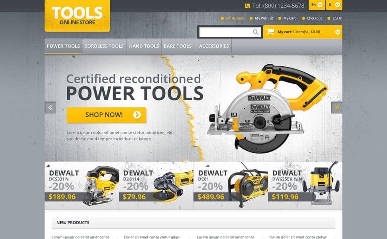 Responsive Tools Store Magento Theme