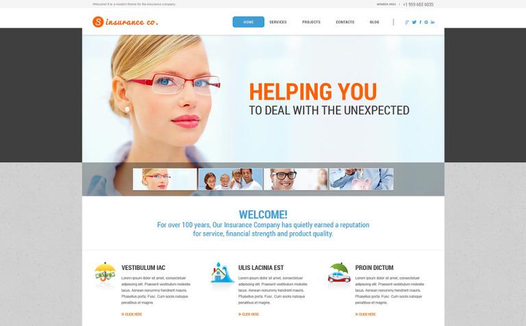 WordPress Theme #46279 für Versicherung Homepage