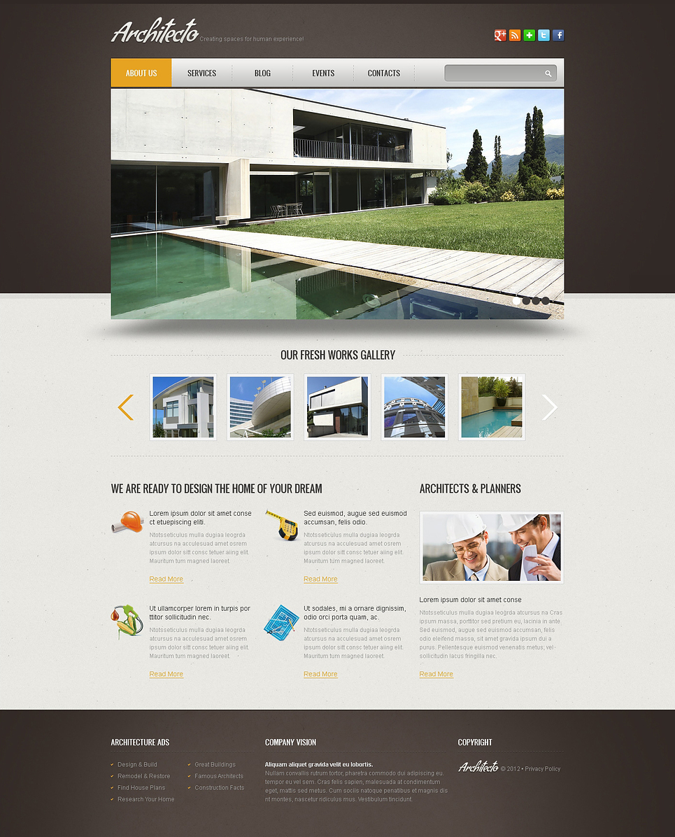 Simple construction wix website template 46256 for Design company usa