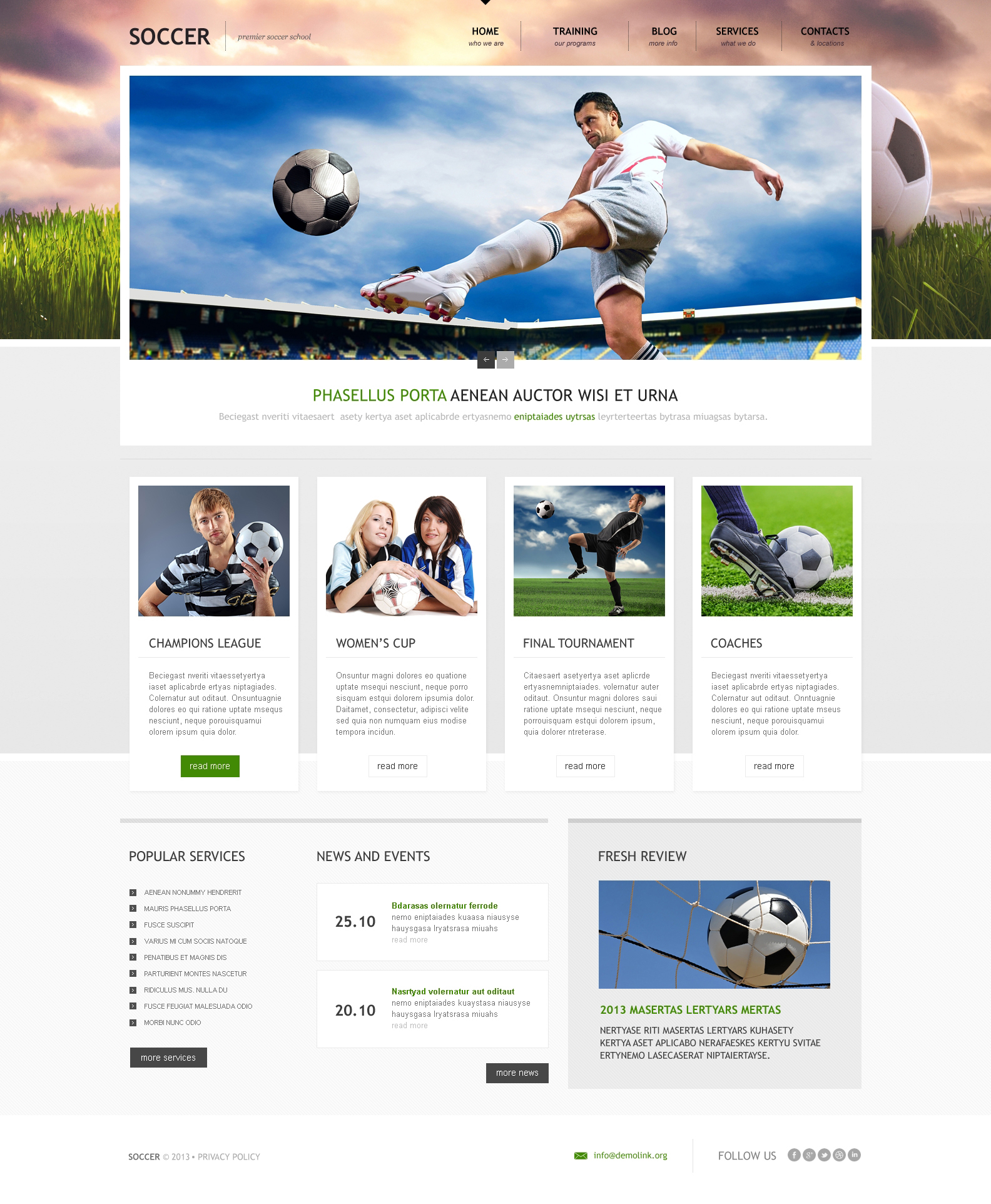 Soccer Responsive Wordpress Theme 46266