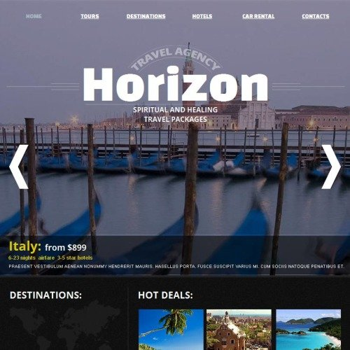 Travel Agency - Facebook HTML CMS Template