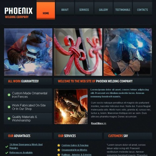 Phoenix - Facebook HTML CMS Template