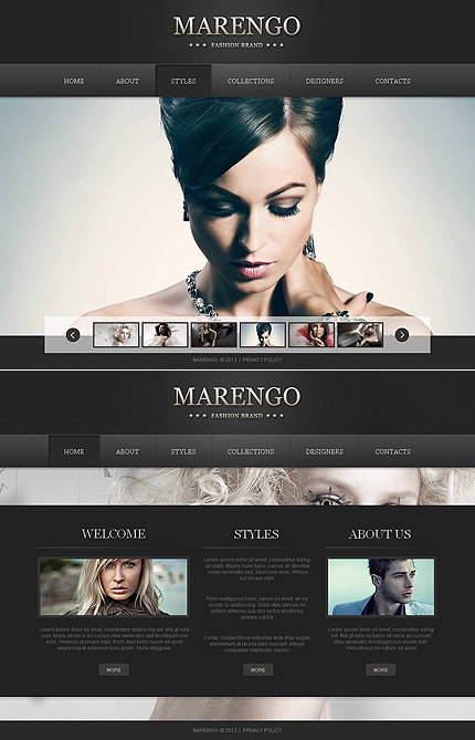 ADOBE Photoshop Template 46300 Home Page Screenshot