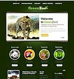 Animals & Pets Moto CMS HTML  Template 46306