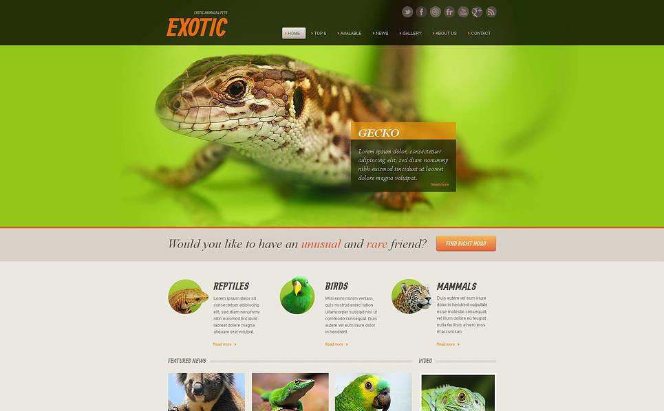 Premium Moto CMS HTML Template over Exotische Huisdieren New Screenshots BIG