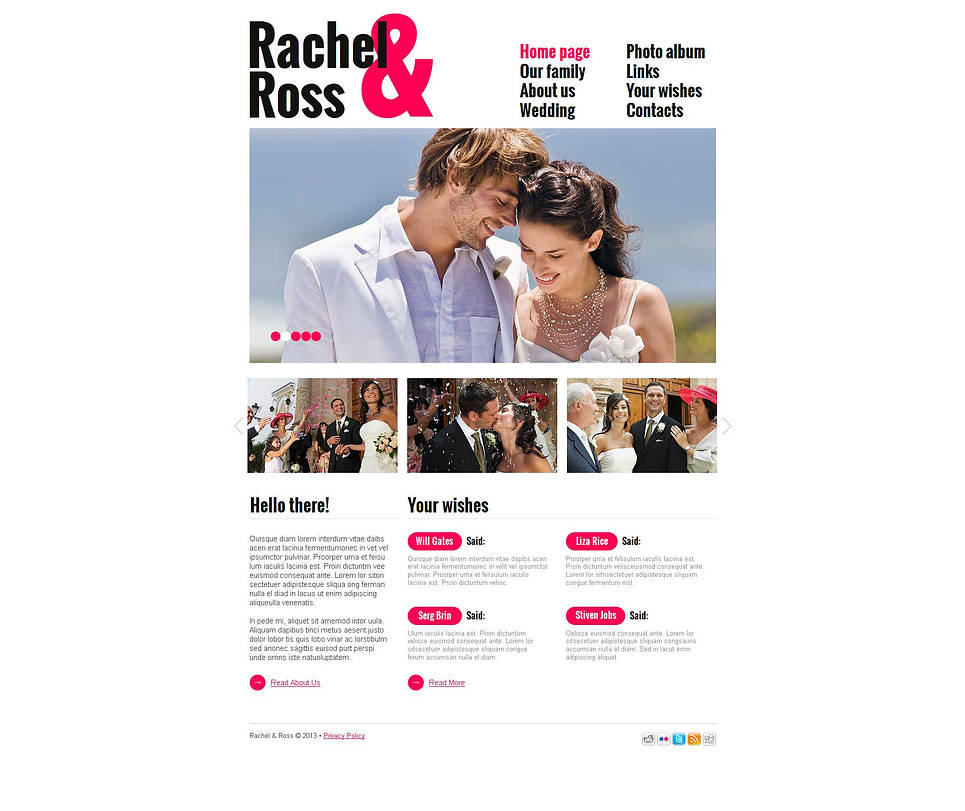 White Space Wedding Website Template - image