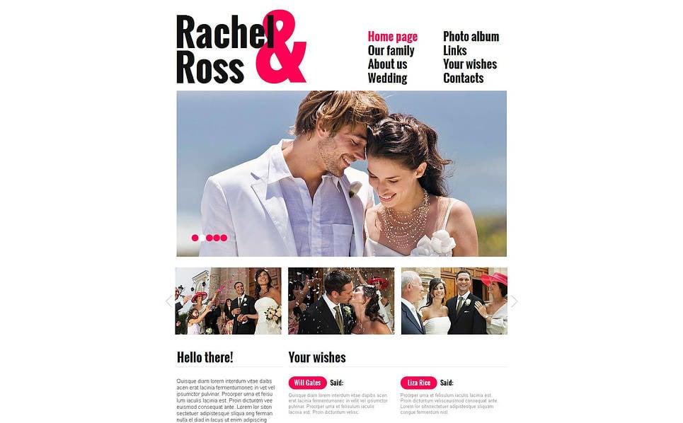 MotoCMS HTML шаблон на тему весільний альбом New Screenshots BIG