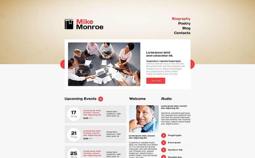 Template Moto CMS HTML  #46312 per Un Sito di Pagine Personali New Screenshots BIG
