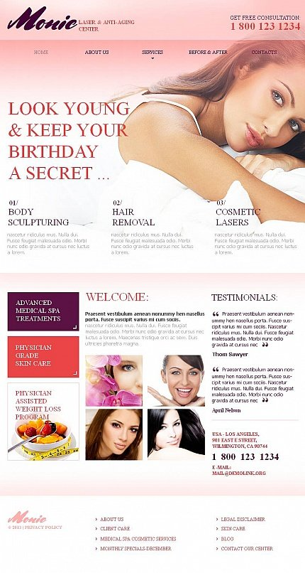 ADOBE Photoshop Template 46316 Home Page Screenshot