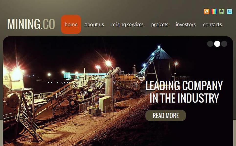 Facebook HTML CMS Vorlage für Bergbauunternehmen  New Screenshots BIG