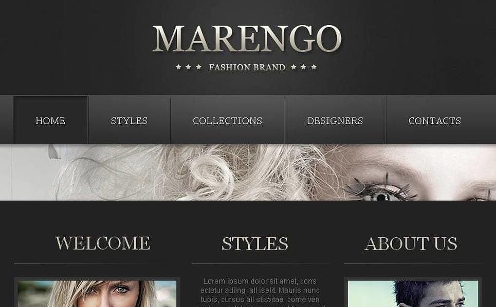 Luxusní Facebook HTML CMS šablona na téma Prodejna oblečení New Screenshots BIG