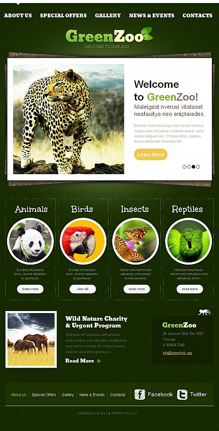 ADOBE Photoshop Template 46325 Home Page Screenshot