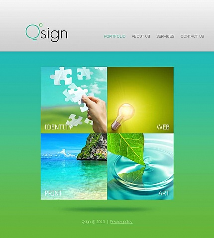 ADOBE Photoshop Template 46331 Home Page Screenshot