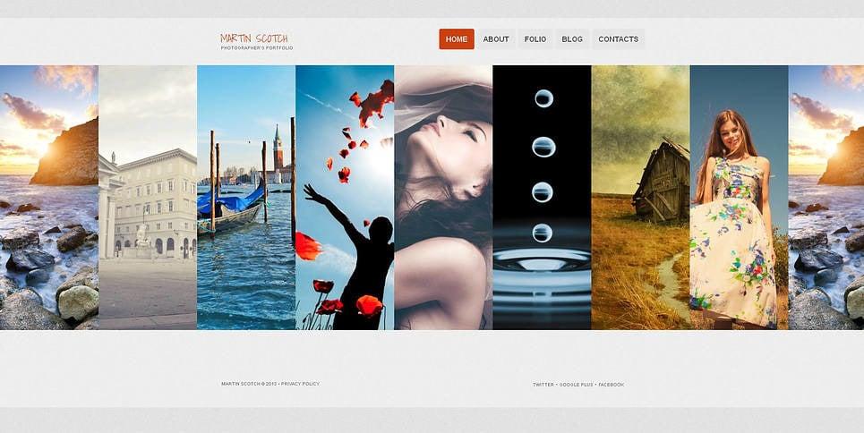 Szablon Galerii Zdjęć #46338 na temat: portfolio fotograficzne New Screenshots BIG