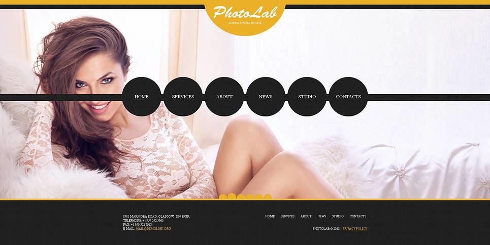 Luxusní Šablona Fotogalerie na téma Fotokomora New Screenshots BIG