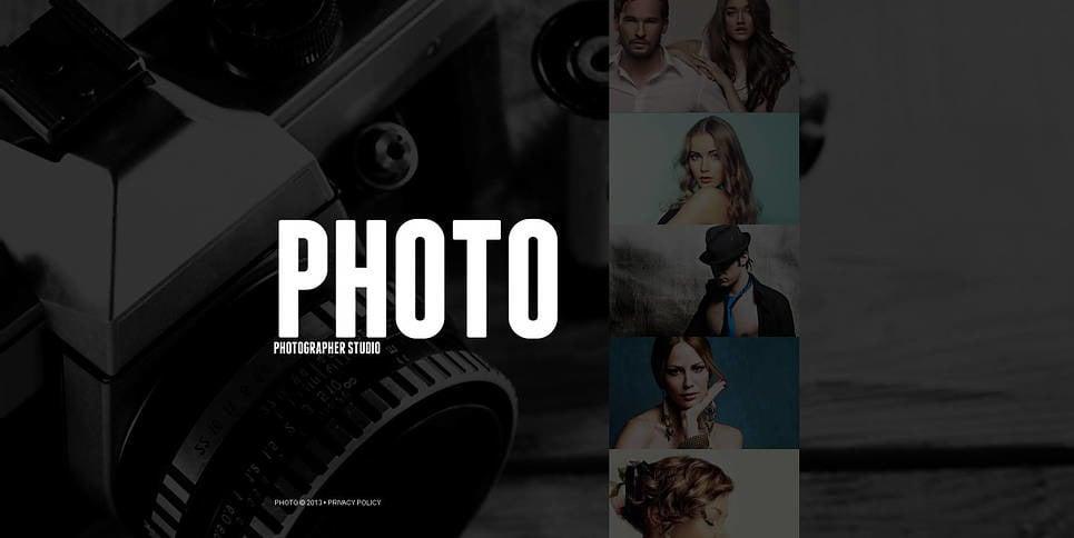 Szablon Galerii Zdjęć #46340 na temat: portfolio fotograficzne New Screenshots BIG
