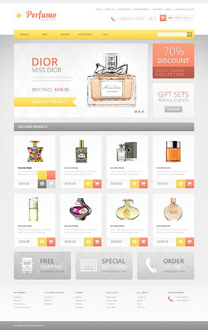 ADOBE Photoshop Template 46346 Home Page Screenshot