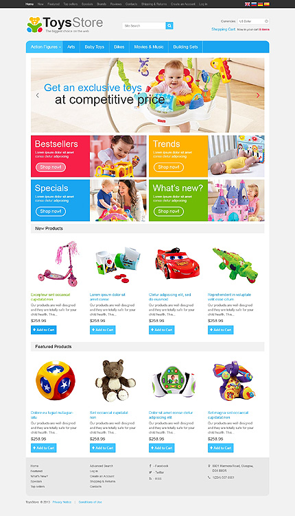 osCommerce Template 46349 Main Page Screenshot