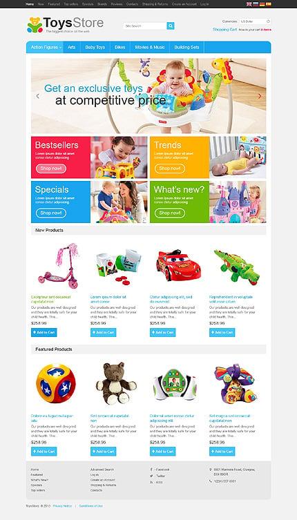 osCommerce Template 46349 Main Page Screenshot