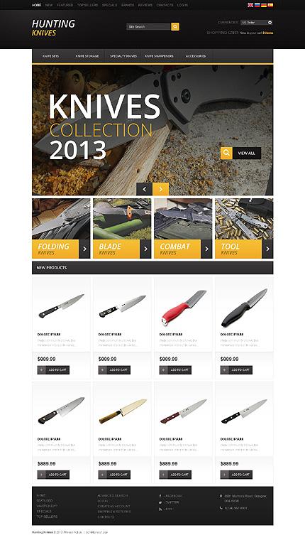 osCommerce Template 46350 Main Page Screenshot