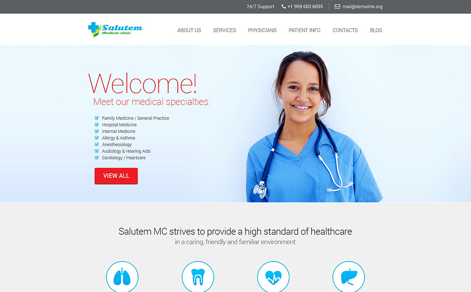 Адаптивний Шаблон сайту на тему медицина New Screenshots BIG