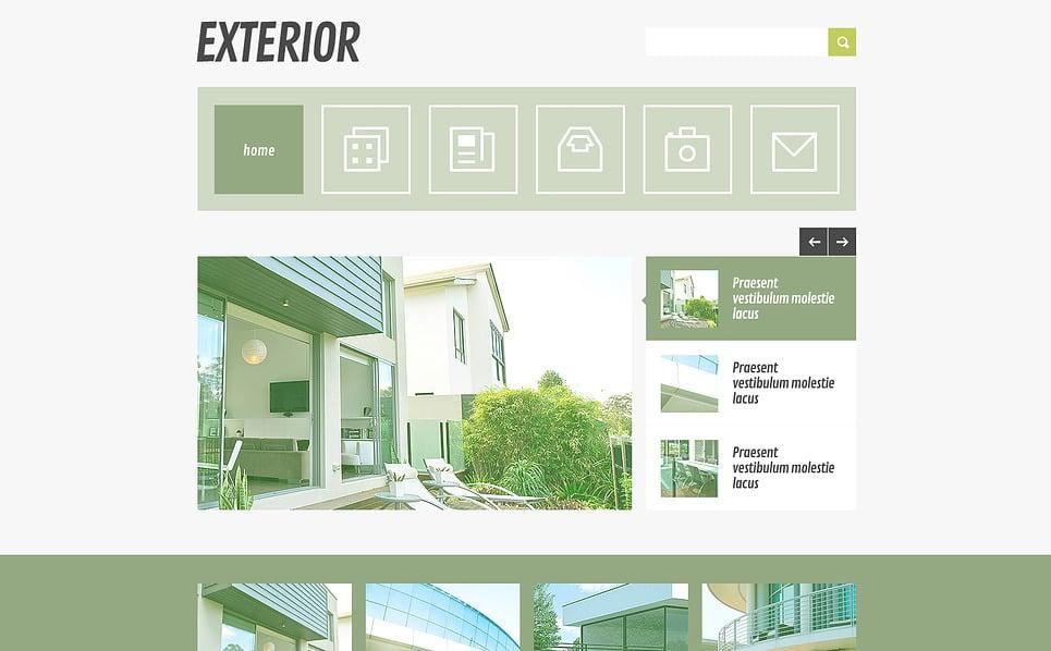 Modèle Web adaptatif  pour site de design de jardin New Screenshots BIG