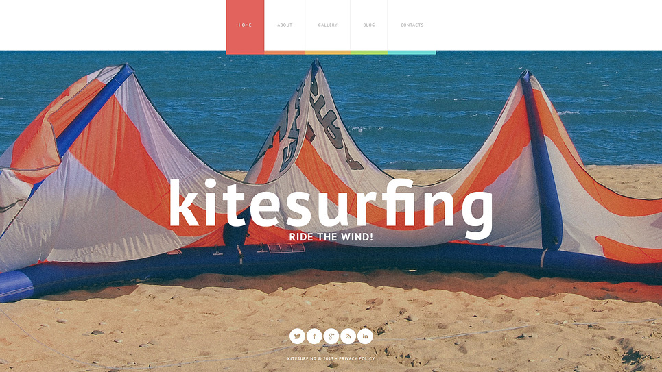 Website Vorlage für Kitesurfen  New Screenshots BIG