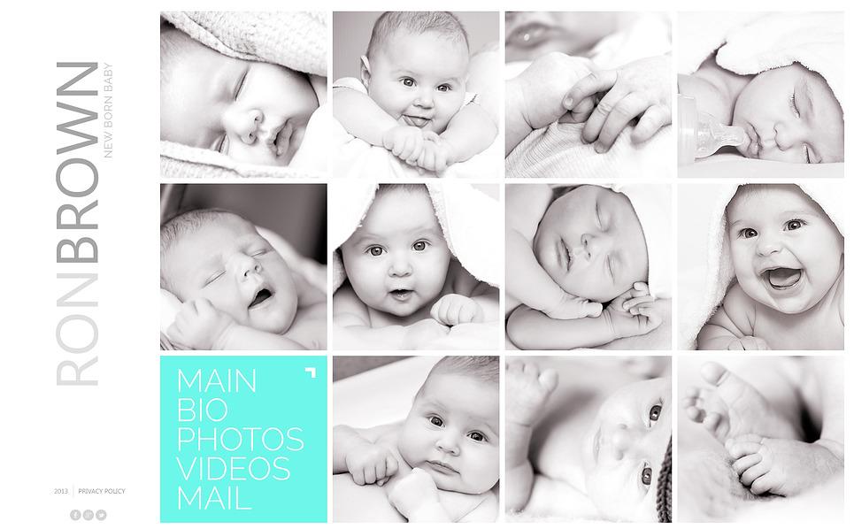 Bootstrap Шаблон сайту на тему немовля New Screenshots BIG